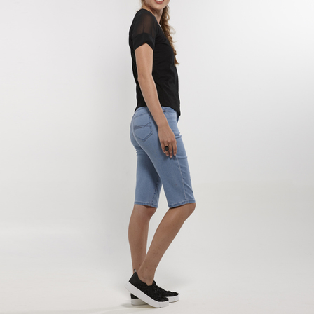 Slim Leg Denim Short