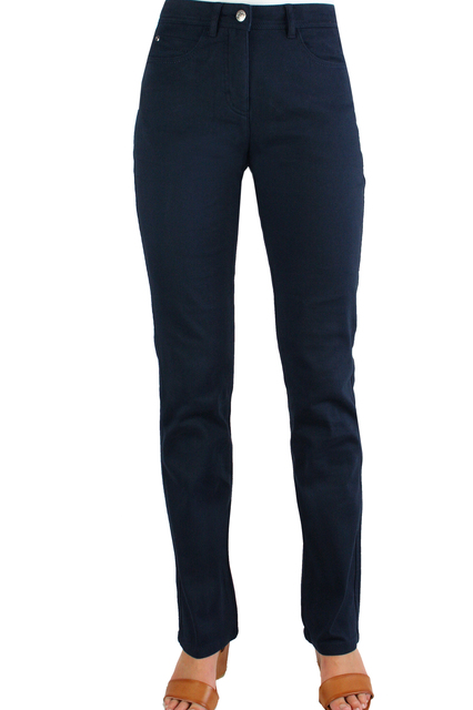 Luxe Cotton Straight Navy
